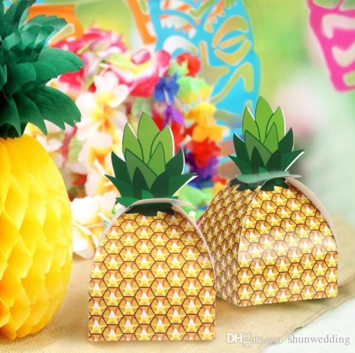 New abacaxi caixa de doces favores e presentes de casamento para o convidado praia festa de casamento decorações presente de festa de aniversário de crianças