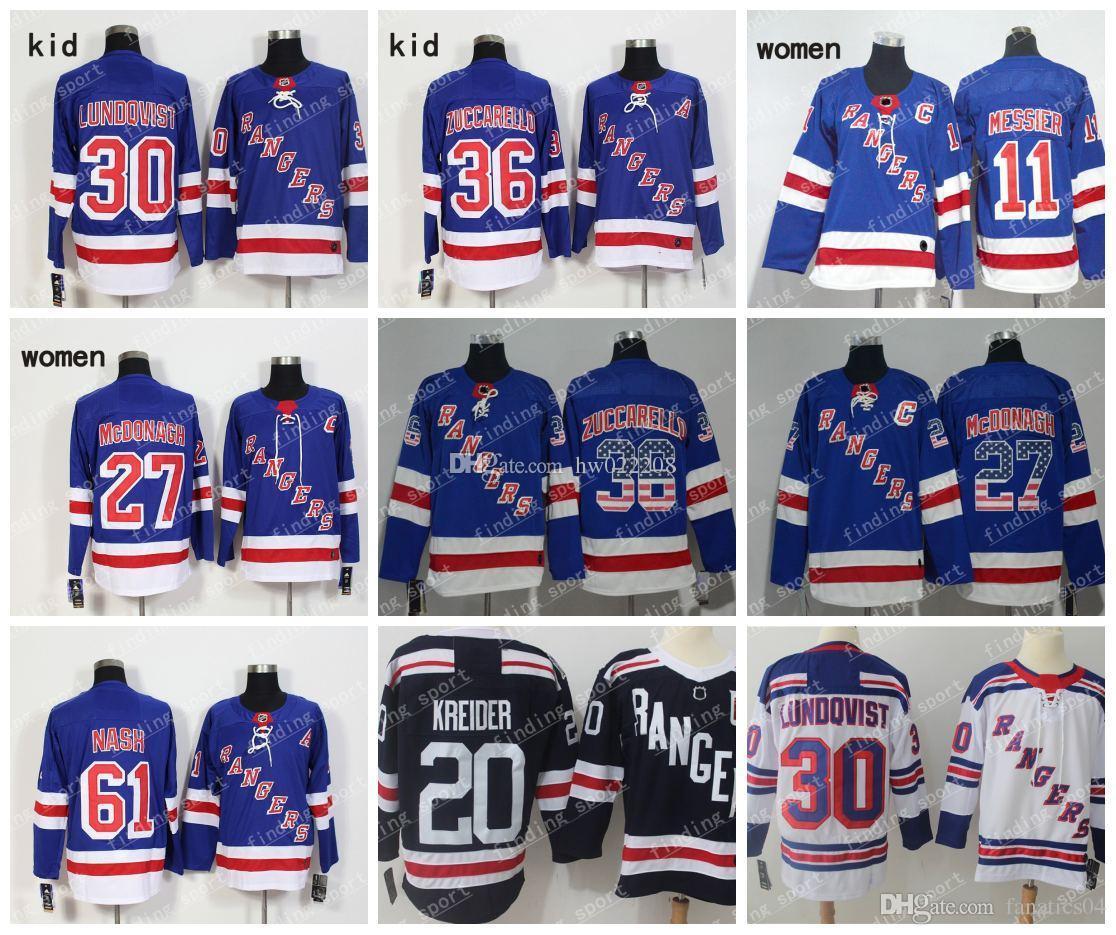 2018 Winter Classic New York Rangers Jerseys Hockey 36 Mats Zuccarell 27  Ryan McDonagh 30 Henrik Lundqvist 61 Rick Nash Brady Skjei Kreider 30  Henrik ... 3b6754d26