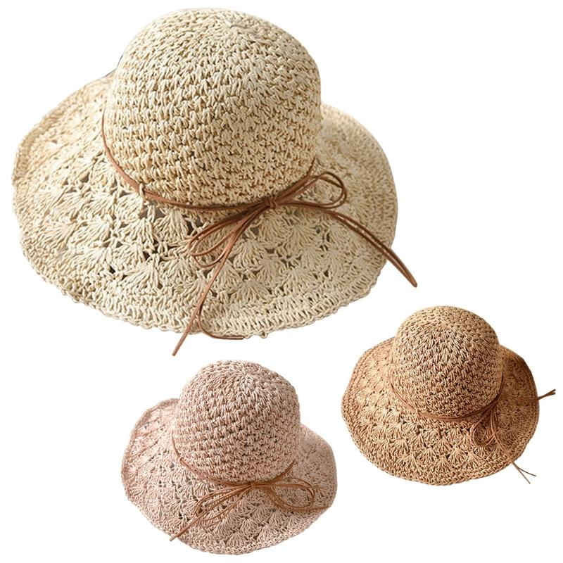 461a9ce2 Women Summer Beach Brimmed Ladies Foldable Crushable Cap Floppy Straw Sun  Hat Panama Hat Trilby From Vintage66, $32.73| DHgate.Com