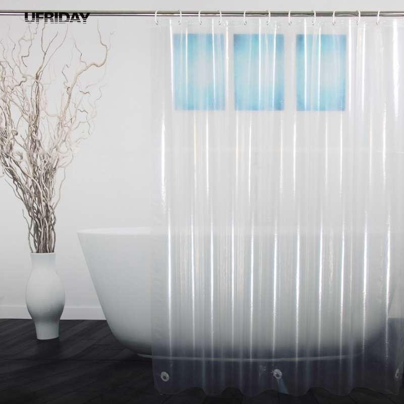 2018 Wholesale Ufriday Peva Shower Curtain Transparent Liner With Magnets Bottom Waterproof And Mildew Resistant Crystal Clear Bathroom From Hibooth