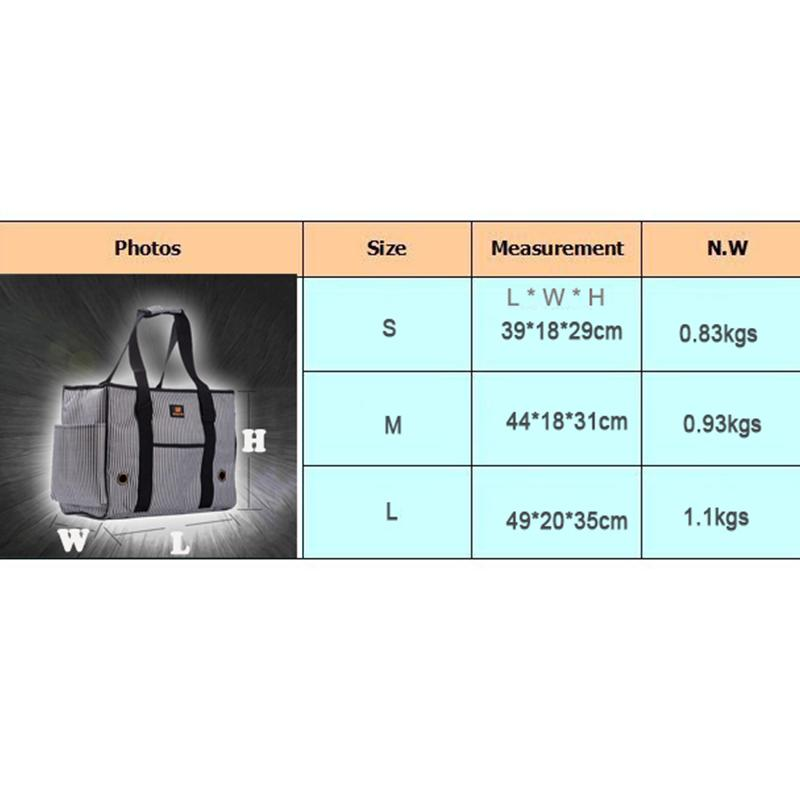 Manufacturer Classic Plaid Pet Dog Carrier Bags For Small Dogs Travel Outdoor Puppy Chihuahua Cats Breathable Shoulder Bags S M L