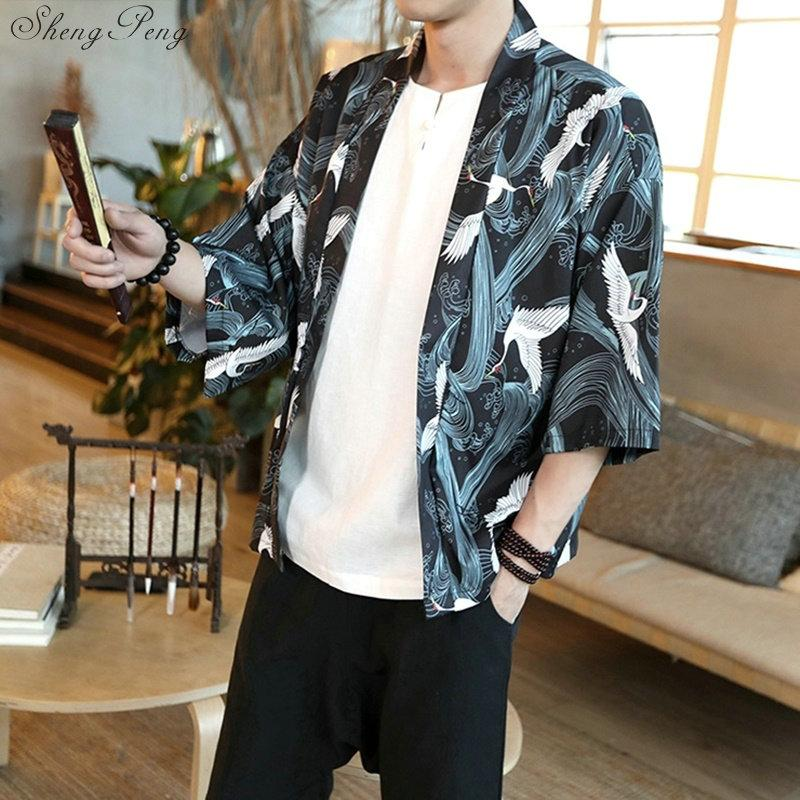 2019 Traditional Japanese Mens Clothing Mens Yukata Japan Kimono Men