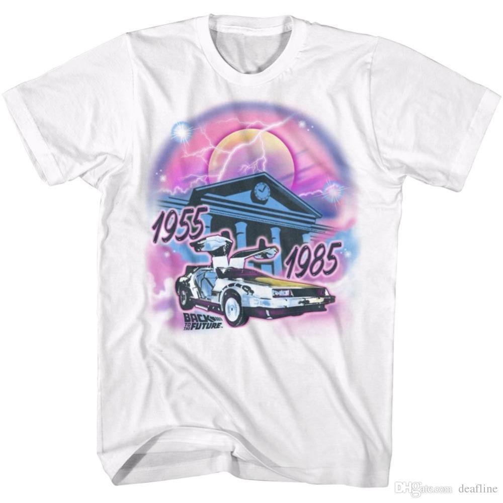 Hot Sale Fashion Back To The Future T Shirt Mens Airbrush In 100