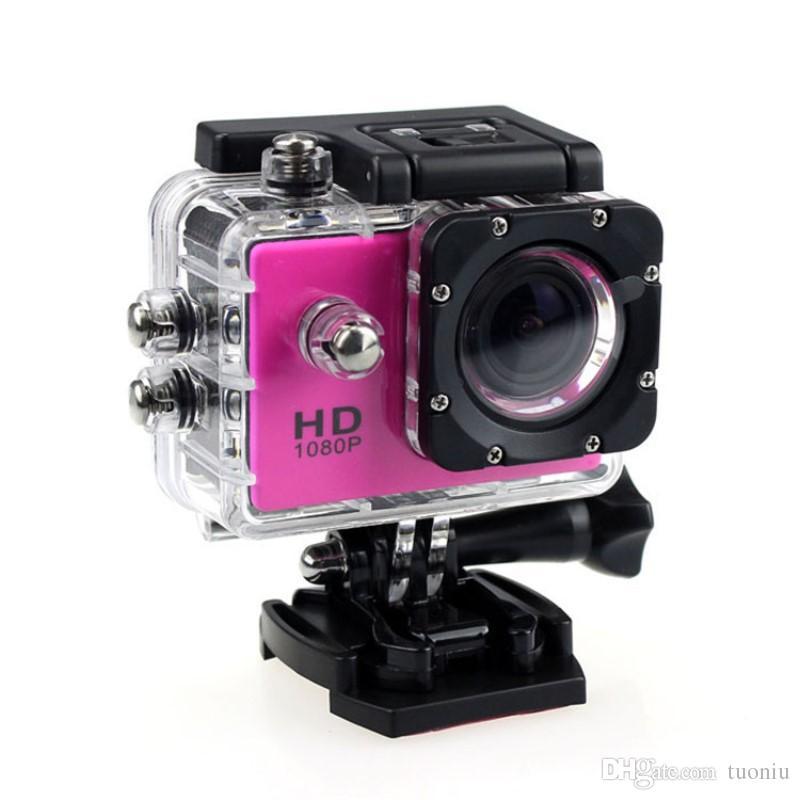 1080P Full HD Action Digital Sport Camera 2-дюймовый экран под водонепроницаемым 30M DV-записью Mini Sking Bicycle Photo Video Cam