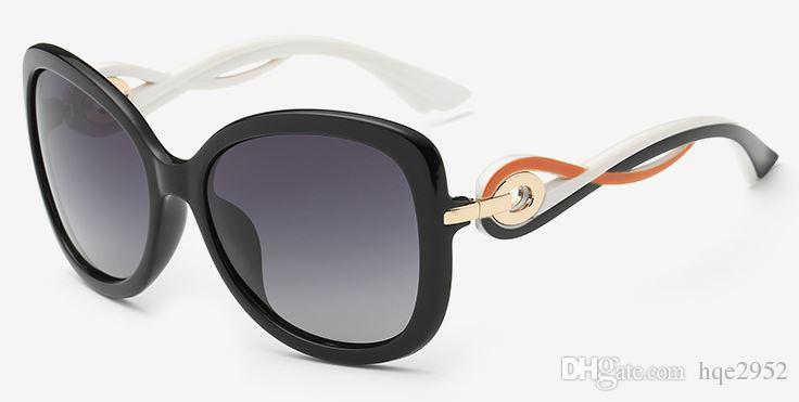 Women's Shades Klassische übergroße polarisierte Sonnenbrille 100% UV-Schutz 8706