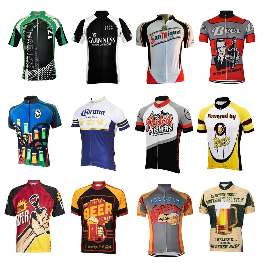 Men Cycling Jersey Beer Cycling Clothing Summer Bicycle Clothes Mtb Jersey  Short Sleeve Bike Wear Breathable Wholesale Cycle Mountain Bikes From  Pretty05 05039e7b7