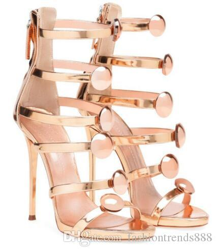 34141688d66a Summer Sandals Woman 2018 Ankle Strap High Heels Super High 8cm Up Sexy  Thin Heels Sandals Zip Closed Big Yards Shoes Uk Flat Sandals From  Fashiontrends888