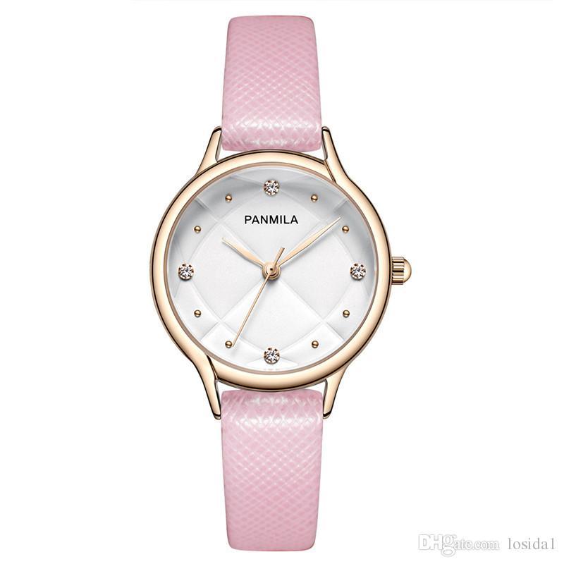 ade553a53bb Compre Mulheres 2018 Moda Relógios De Luxo De Quartzo Lazer Simples  Pulseira De Couro Relógios De Pulso Jóias Pulseira Relógio Relógio Saat  Mulheres Senhora ...