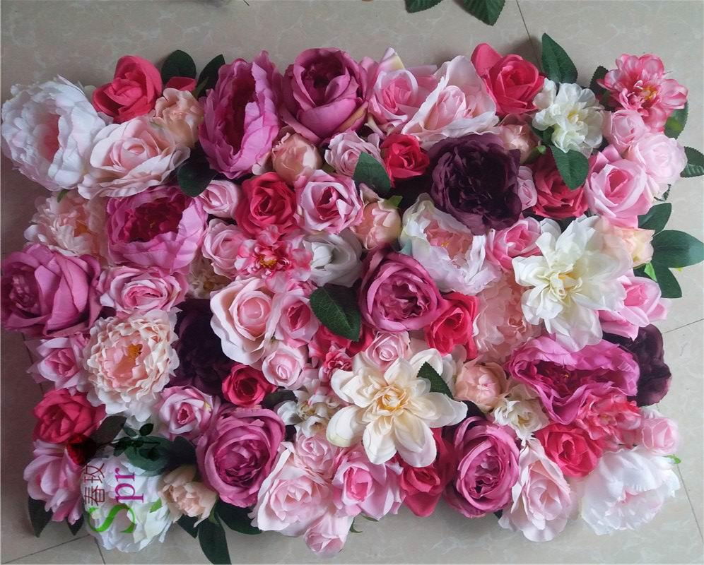 Wholesale New!wedding MIX COLOR Stage Flower Wall Backdrop Events ...