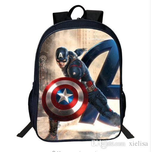 2105a860e925 16 Inch Bag Oxford Printing Cartoon Avengers Print Iron Man Boys Backpacks  For Children School Bag Kids Schoolbag Tenns Bookbag Kid Backpack Backpacks  For ...