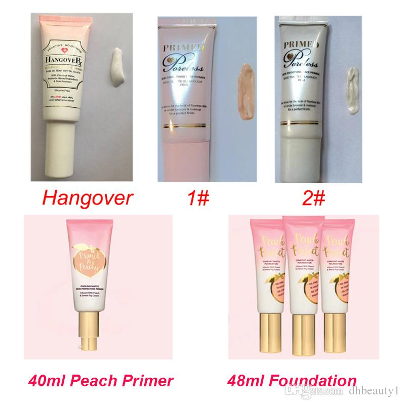 AAA Faced Peach Perfect Matte Primer Foundation Hangover Replenishing Primer Primed and Poreless Foundation Cocnealer Primer