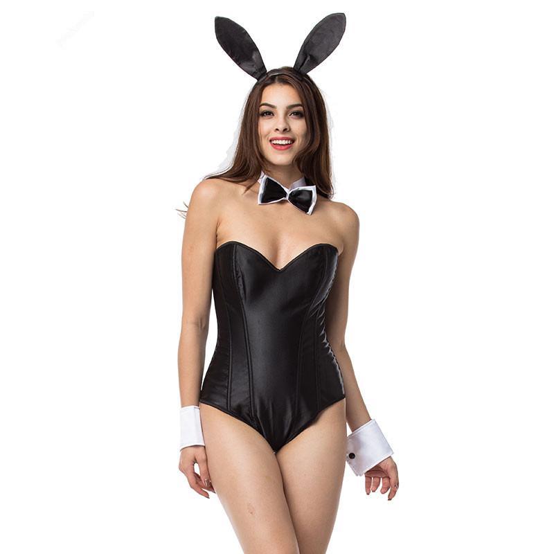 Costume Rabbit De Combinaison Nightclub Cosplay Uniforme Lapin Halloween Girl D Body Tentation Sexy 3KJcTl1F