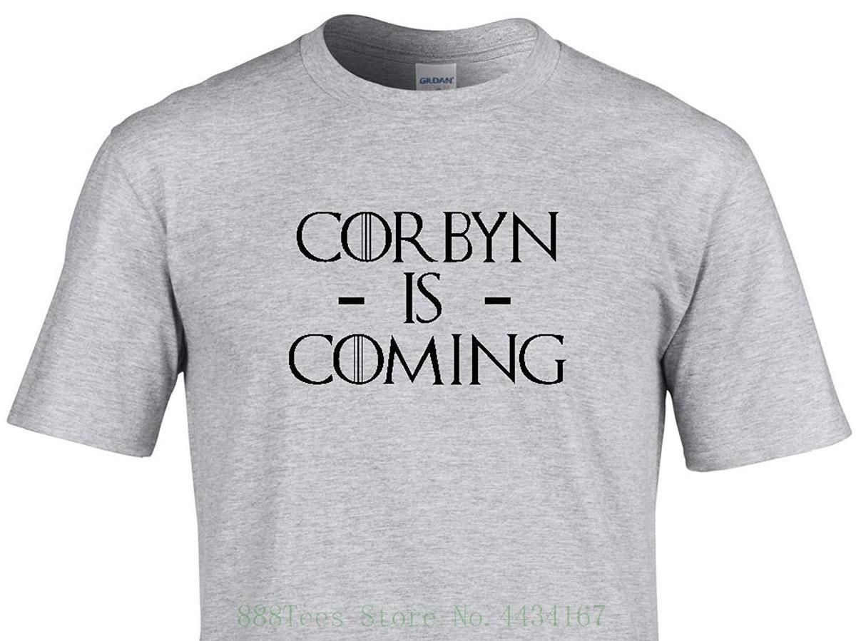 Corbyn Is Coming Political Parody T Shirt Unique Quality Vinyl