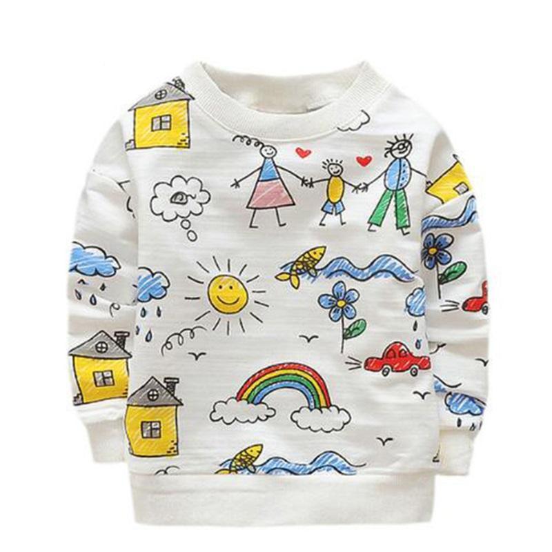 2019 Kids T Shirts Cute Family Graffiti Boys T Shirt Long Sleeved Cartoon  Fox Baby Girls Tops 2018 New Spring Autumn Children S Tees From ... 753885d67