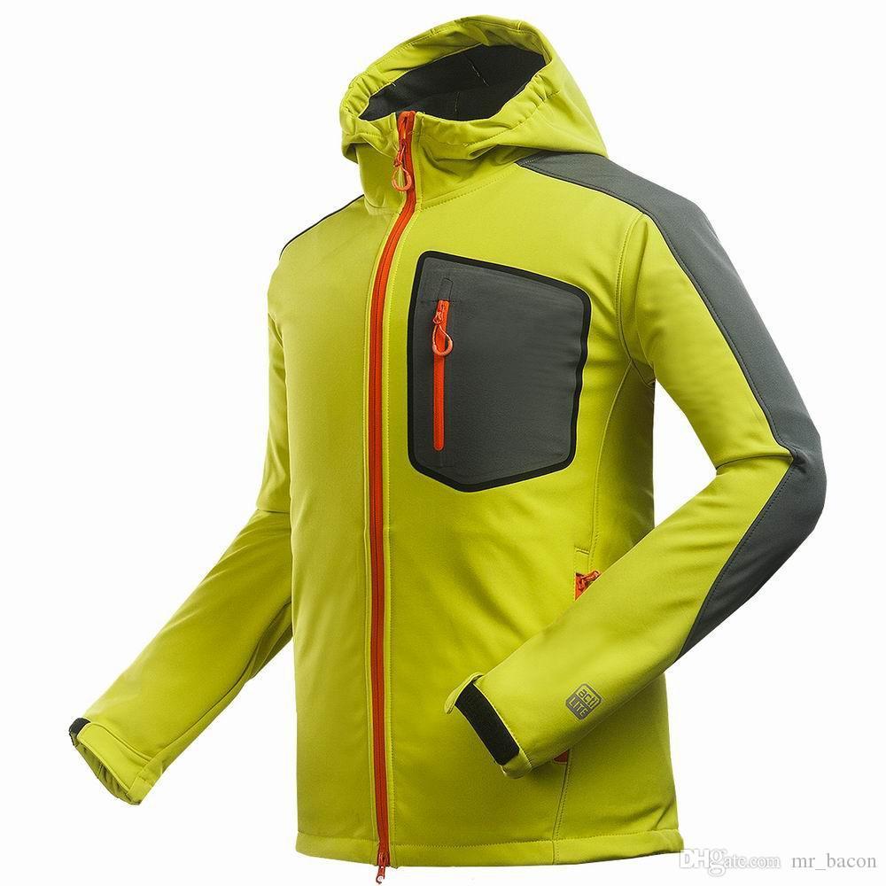Casaco de inverno Composto macio shell jaqueta homens esportes Ao Ar Livre lazer casaco esportes de escalada de Montanha caminhadas à prova de vento dos homens jaqueta