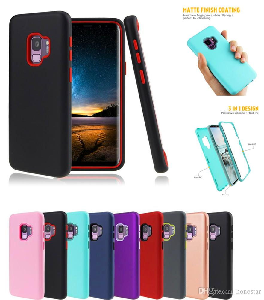 New Matte Finish 3 In 1 Defender Phone Case Silicone Pc Hybrid Navy Pro Tools Iphone 6g 6p Shockproof Protector For Samsung Galaxy Note9 S9 S9plus 6 7 8 5s Se Customized Cell