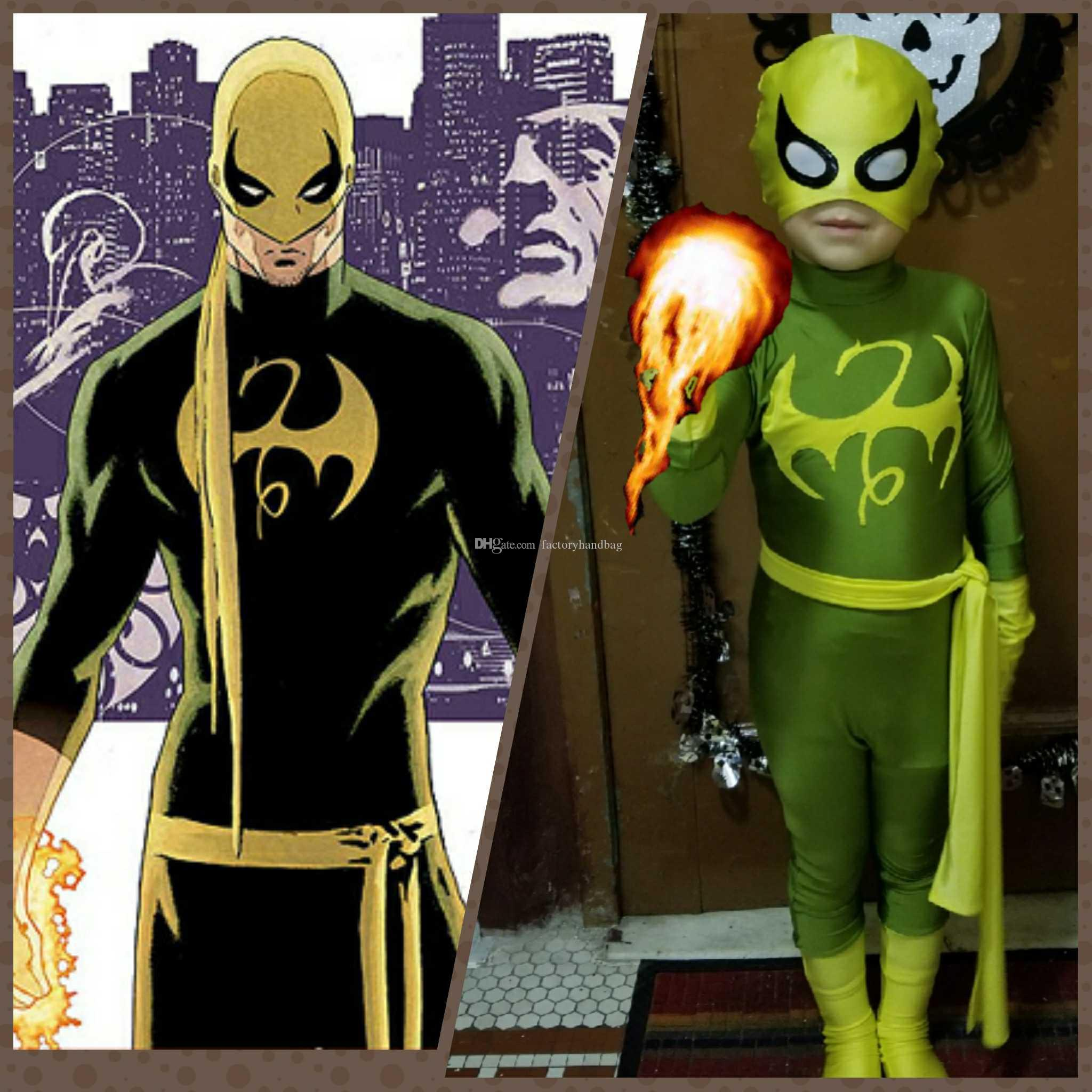2018 hot sale iron fist marvel x men superhero costume halloween