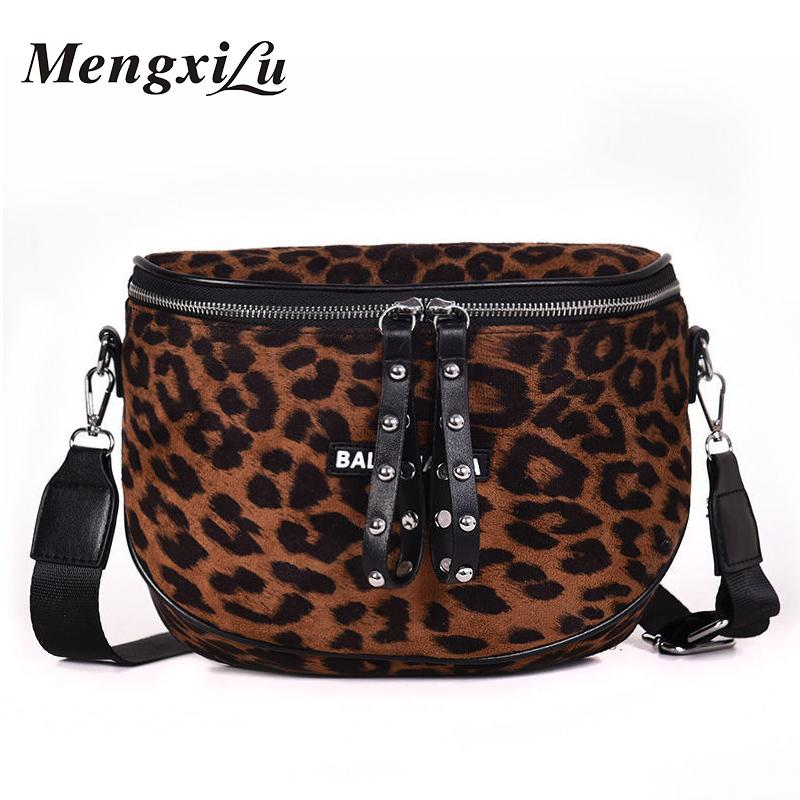 5b2ccce477b0 New Women Bags Leopard Luxury Design Female Crossbody Messenger Bags Soft Velour  High Quality Ladies Handbags Double Zipper 2018 Leather Purse Womens Purses  ...