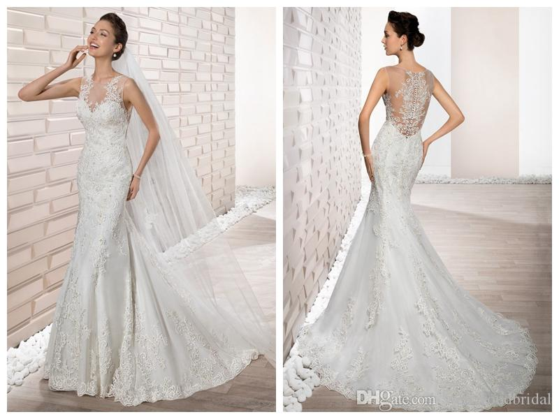 compre 2018 vestidos de novia robe de mariée demetrios 677 marfil