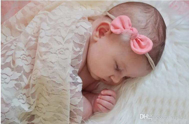 Ribbon Lace Bow Fine Children's Hair Band Fashion Mix Cute Baby To Choose V 001
