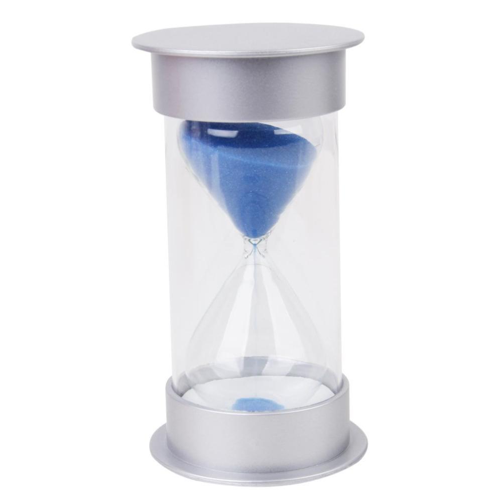 30 minutes sand clock timer sandglass hourglass home decor blue
