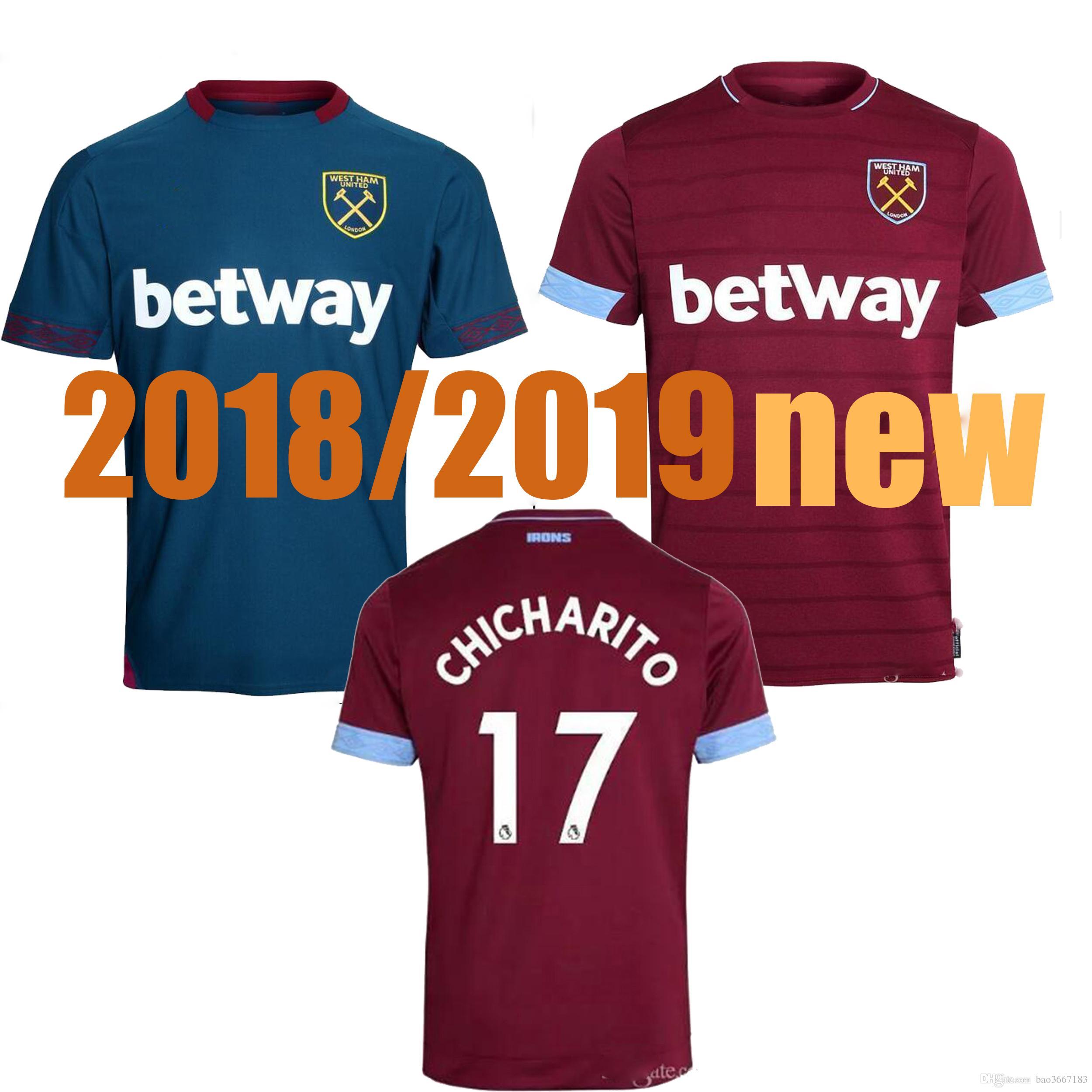 2019 SIZE S XXL 2018 2019 West Ham United Soccer Jerseys LANZINI ANTONIO  CARROLL CHICHARITO 2018 2019 West Ham United Football Shirts From  Bao3667183 2aaa3d061