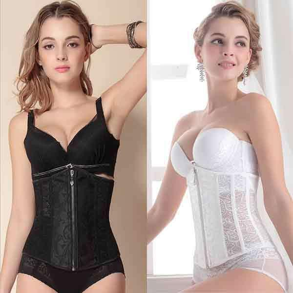 New 2018 Waist Training Corsets Bustiers Women's Underwear Sexy Lingerie Lace reinforcing Bar Abdomen Waist Entilate Bridal Accessories