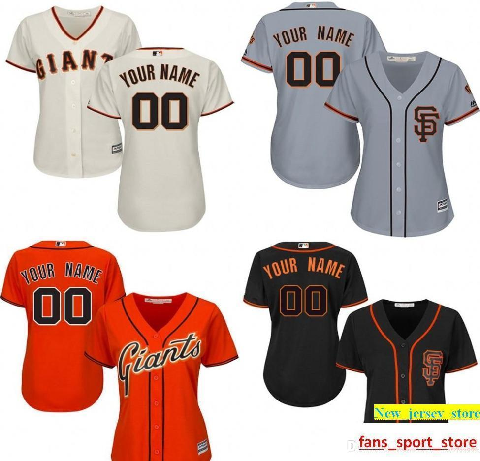4a5021112e3 2019 Customize Sn Fo Giants Womens Baseball Jersey Any Name Any Number  Personality Custom Sf Giants Jersey Size Small ~ 2XL From New jersey store