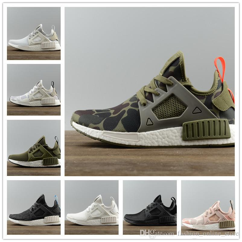 bc8223a06 Boost NMD XRX M Olive Green Black White Stripe Army Green Four Seasons  Sneakers Women Men Youth Running Shoes With Box Red Shoes Footwear From ...