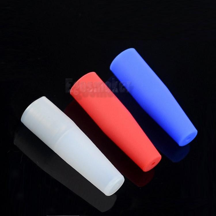 eGo Ecig Silicone Mouthpiece Cover Drip Tip Disposable Silicon Testing Caps Rubber short 510 Test Tips Tester Cap Drip Tips For CE4 Atomizer