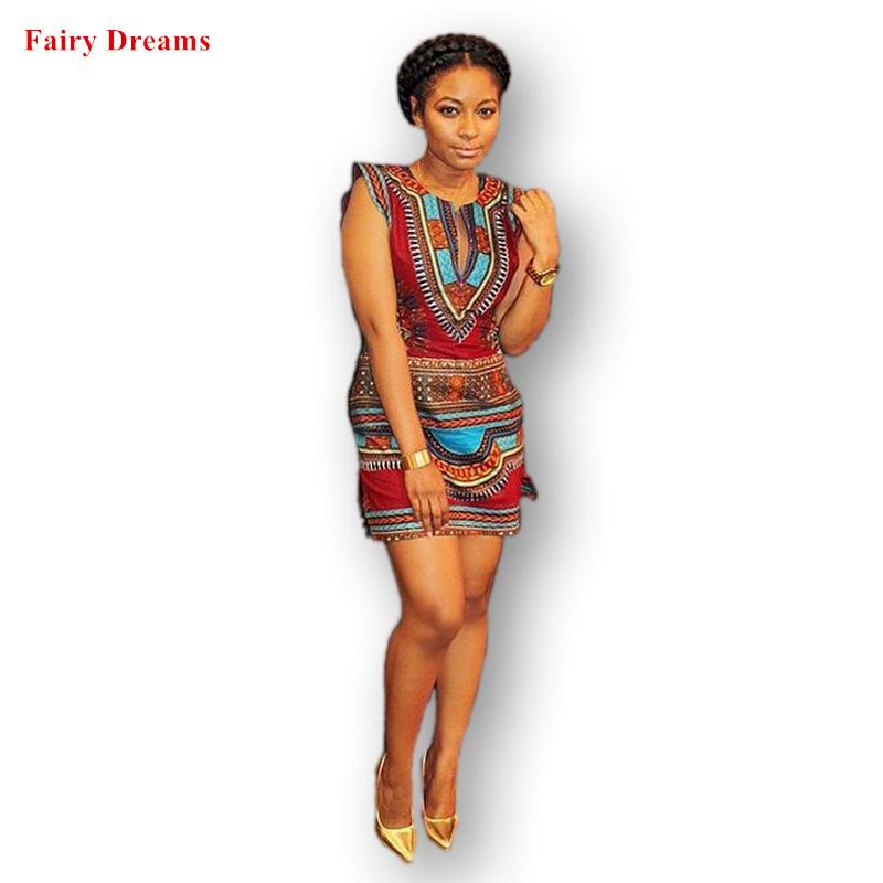 Women African Dresses 2018 Summer Style Elastic Plus Size Bodycon Sundress  Ladies Dashiki Traditional Africaine Print Clothes Africa Clothing Cheap  Africa ... bca46298112d