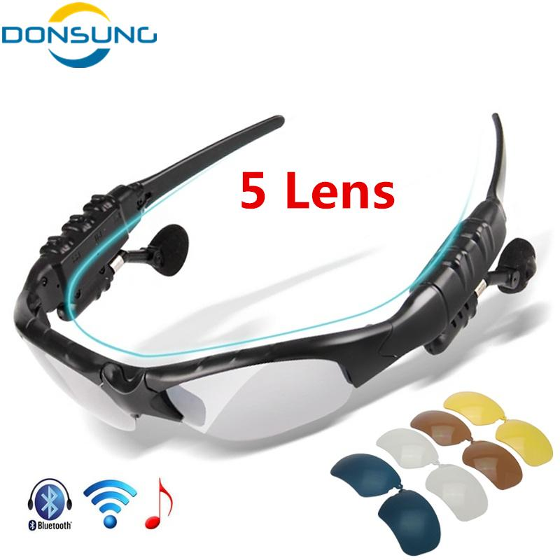 482a8c4336057 2019 DONSUNG 5 Lens Polarized Cycling Glasses Bluetooth Men Women  Motorcycling Sunglasses MP3 Phone Bicycle Outdoor Sport Sun Glasses From  Capsicum