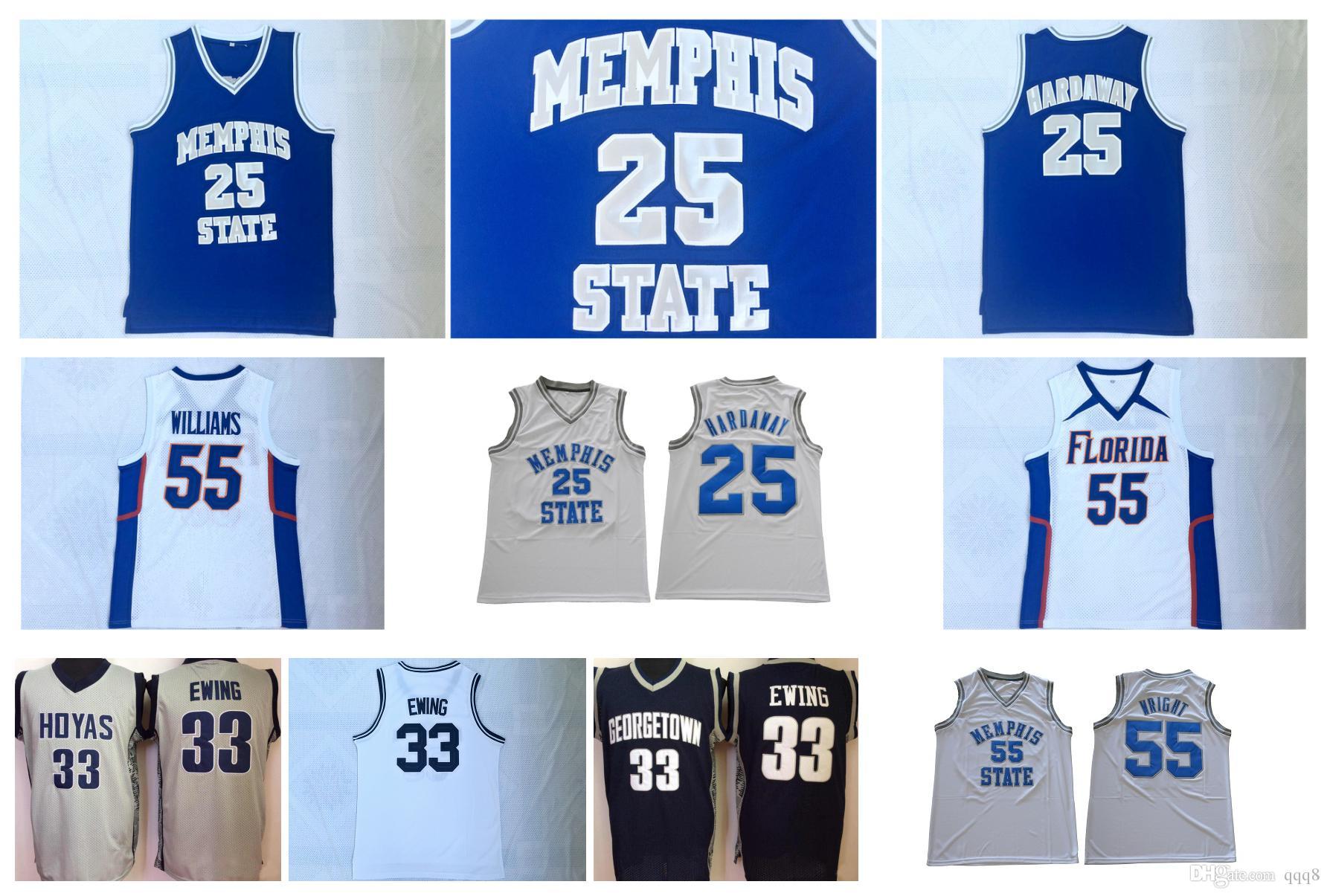 best service cb2c5 cb0f2 Penny Hardaway College Jersey Patrick Ewing Georgetown Lorenzen Wright  Memphis State Tigers Florida Gators Jason Williams College Basketball
