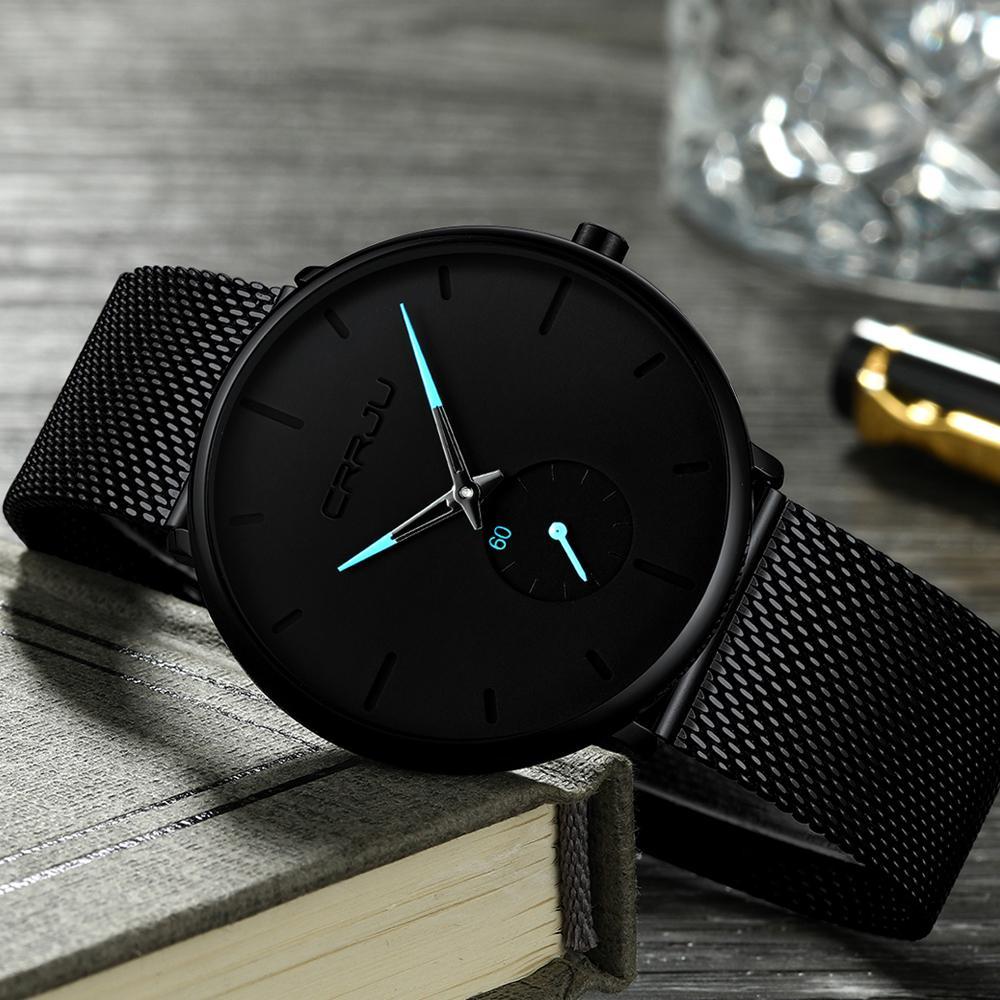 70a0c554e3d Relogio Masculino Crrju Watch Men Quartz Watch Mens Watches Top Brand  Luxury Stainless Steel Sports Wristwatch Clock Online Shopping For Wrist  Watches Wrist ...