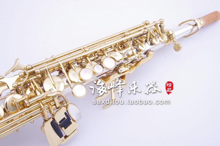 Japonya YANAGISAWA S9930 Soprano B B Saksafon Pirinç Gümüş Kaplama Müzik Aletleri Sax Ile Durumda, Ağızlık
