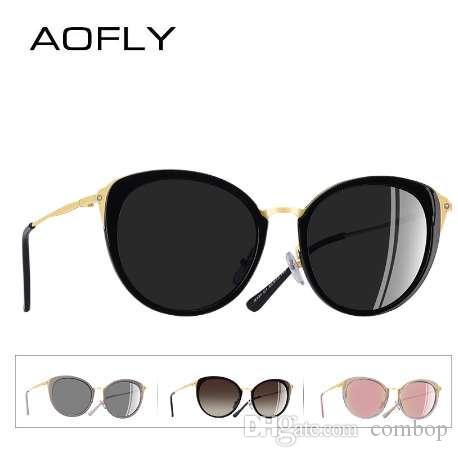 7b2b0121f8 AOFLY BRAND DESIGN Polarized Sunglasses Women Fashion Ladies Cat Eye Sun  Glasses Eyewear Gafas De Sol Goggles A131