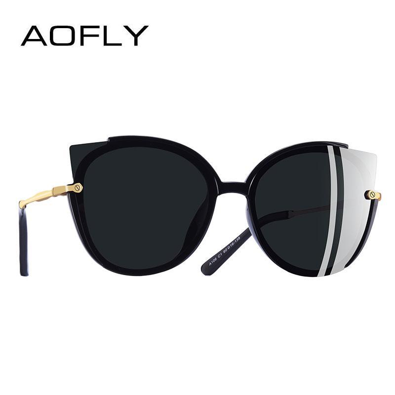 19013879c9 AOFLY BRAND DESIGN Fashion Lady Polarized Sunglasses Women Unique ...