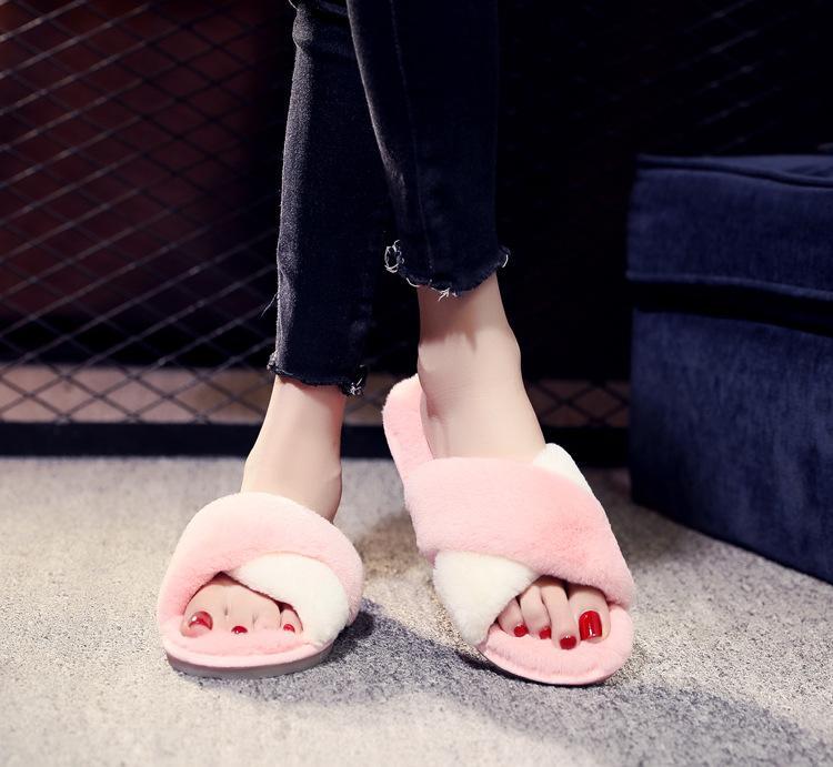 1f86968d9c585 ZOOLIM Women Indoor Slippers Winter Warm House Flats Fur Slip On ...