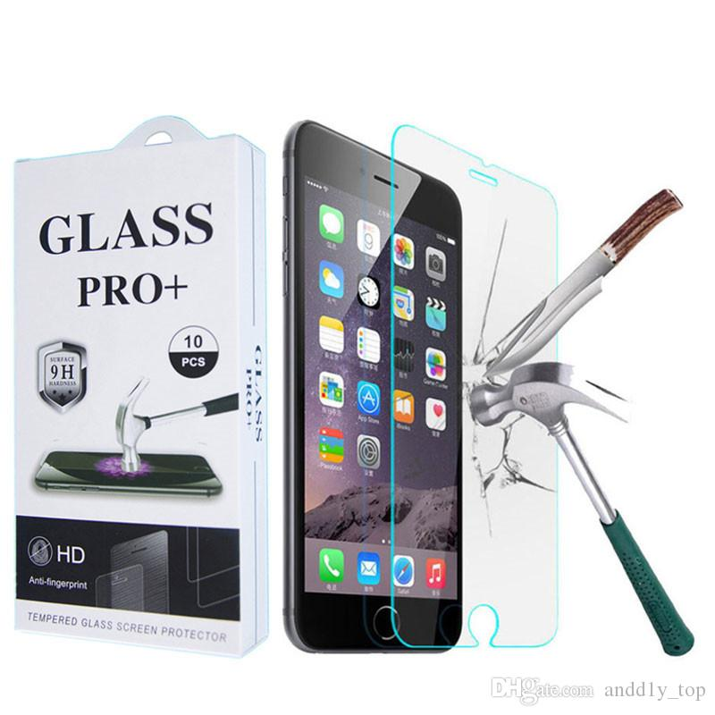 b61ac30401c Tempered Glass For IPhone X XS XR 8 7 6 Plus 5s Screen Protector Film For  Samsung Galaxy Note 9 A8 J6 2018 Cell Phone Screen Protector Tempered Glass  ...