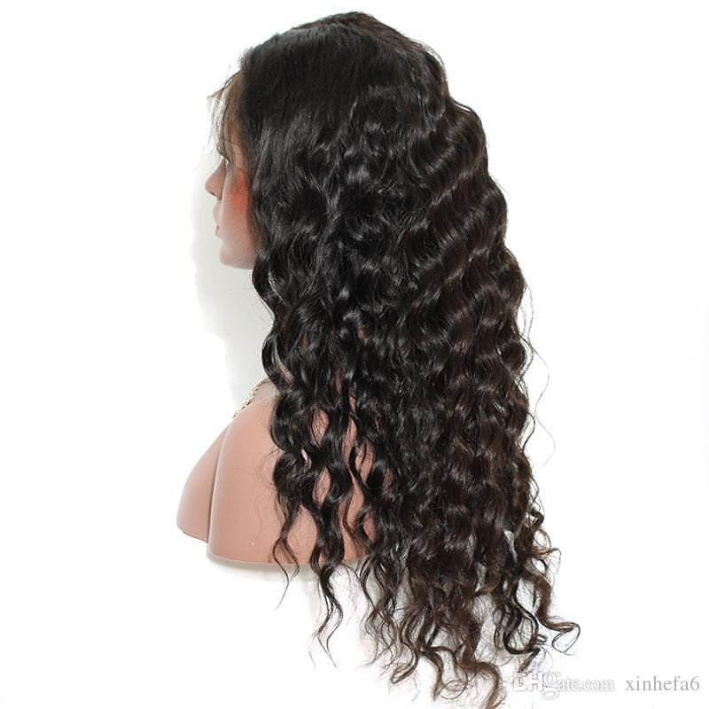Unprocessed Body Wave Lace Front Human Hair Wigs With Brazilian Virgin Hair Full Lace Human Hair Wig For Black Woman