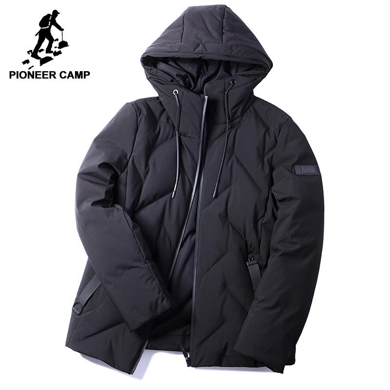 8ee1733f679da 2019 Pioneer Camp New Style Warm Winter Men Down Jackets Brand Clothing  Fashion Hooded 90% White Duck Down Coat Male Black AYR705331 L18101102 From  Tai01, ...