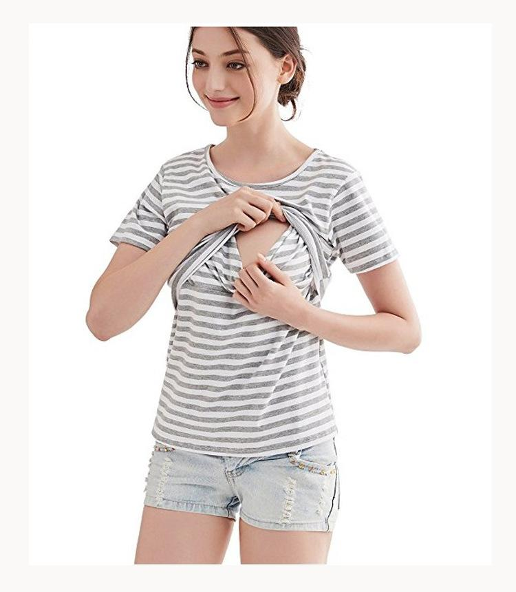 e277319984355 2019 Fashion Maternity Nursing T Shirts 2018 Summer Breastfeeding T Shirts  For Pregnant Women Casual Mother Breast Feeding Tops Tees From Dejavui, ...
