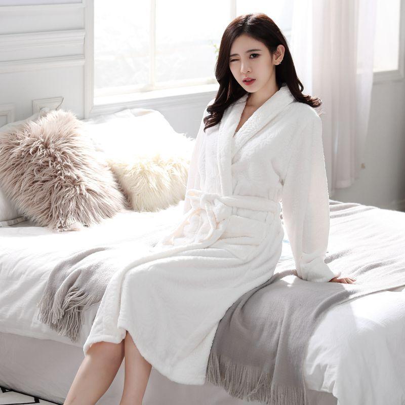 Großhandel 2018 Peignoir Home Frauen Robe Russland Winter ...