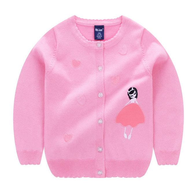 2af80fac9 Baby Children Clothing Girls Loving Heart Princess Knitted Cardigan ...