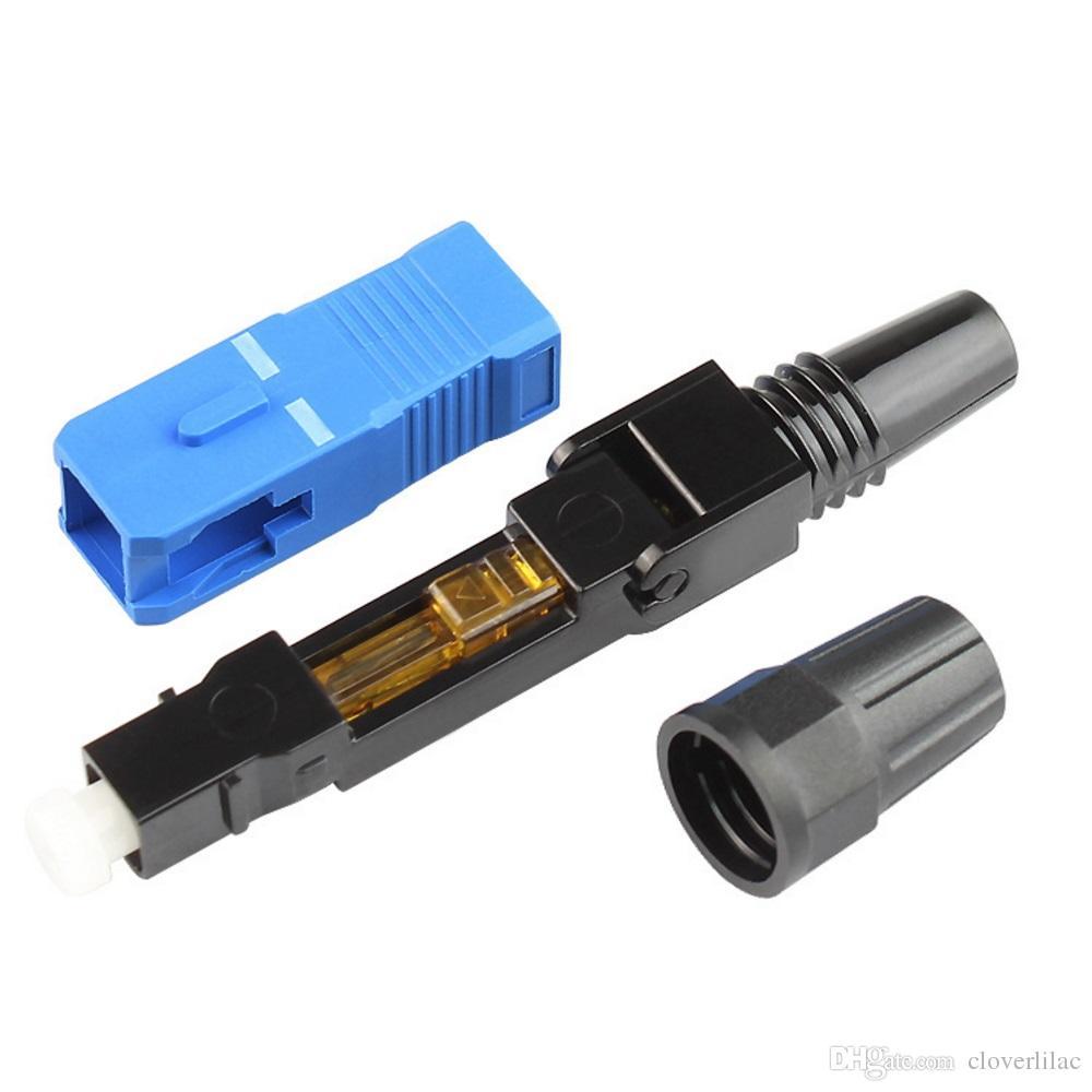 Trasporto libero e vendita calda 40 PZ SC fibra ottica connettore rapido FTTH Embedded Single Mode SC UPC connettore veloce