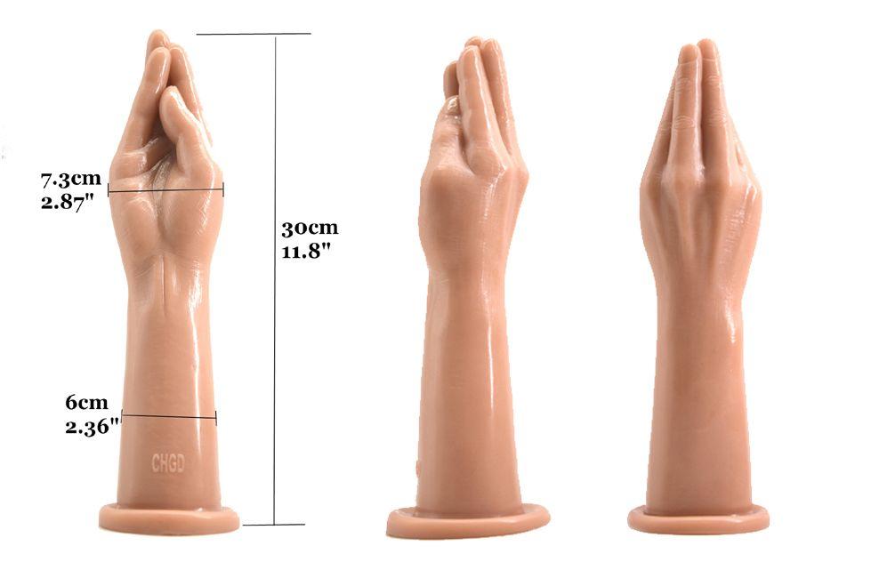 2018 Soft Fist Dildo Artificial Hand Butt Anal Plug Anus Vagina Stuffed Masturbation Product For Men Women Adult Bondage Bdsm Sex Toy 4 Colo