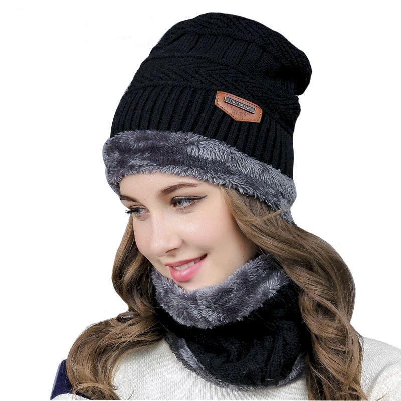 92d0e8c426d02 2019 Balaclava Knitted Hat Scarf Caps Neck Warmer Winter Hats For Men Women  Skullies Beanies Warm Fleece Cap From Ekuanfeng