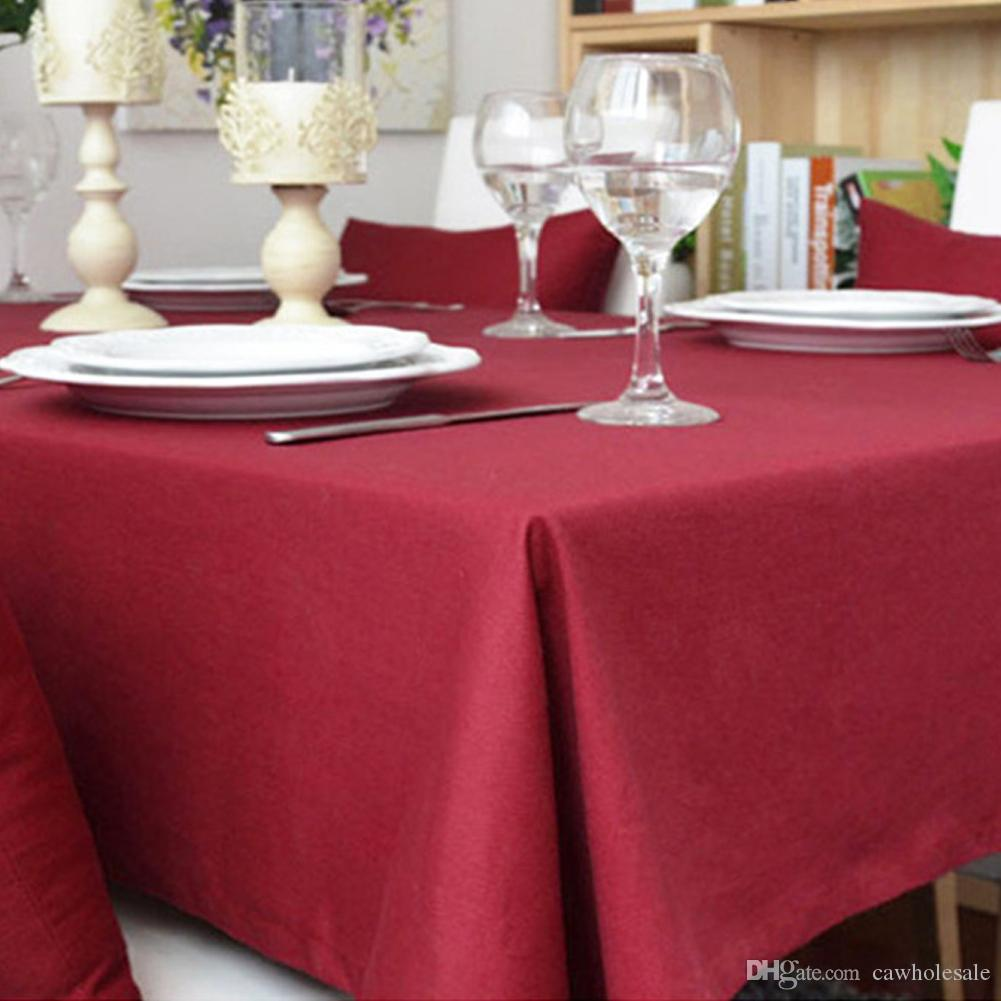 Genial Cotton Table Cloth With Square Table, Dust Tablecloth On Kitchen Table  140*140cm Approx. 55 X 55 Inches  Pure Color Stain Resistant Tablecloth  Cotton ...