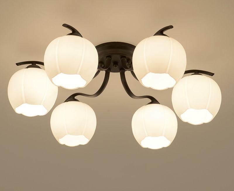 Plafoniere Da Salotto : Acquista lampada da soffitto in vetro pastorale ferro tondo