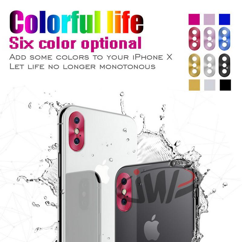 Camera Lens Frame Metal Protective Cap for iPhone X 10 iPhoneX Rear Case Phone Circle Cover Aluminum Alloy